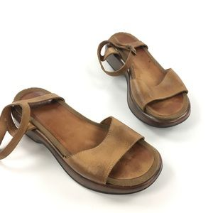Dansko Brown Leather Strappy Open Toe Sandals
